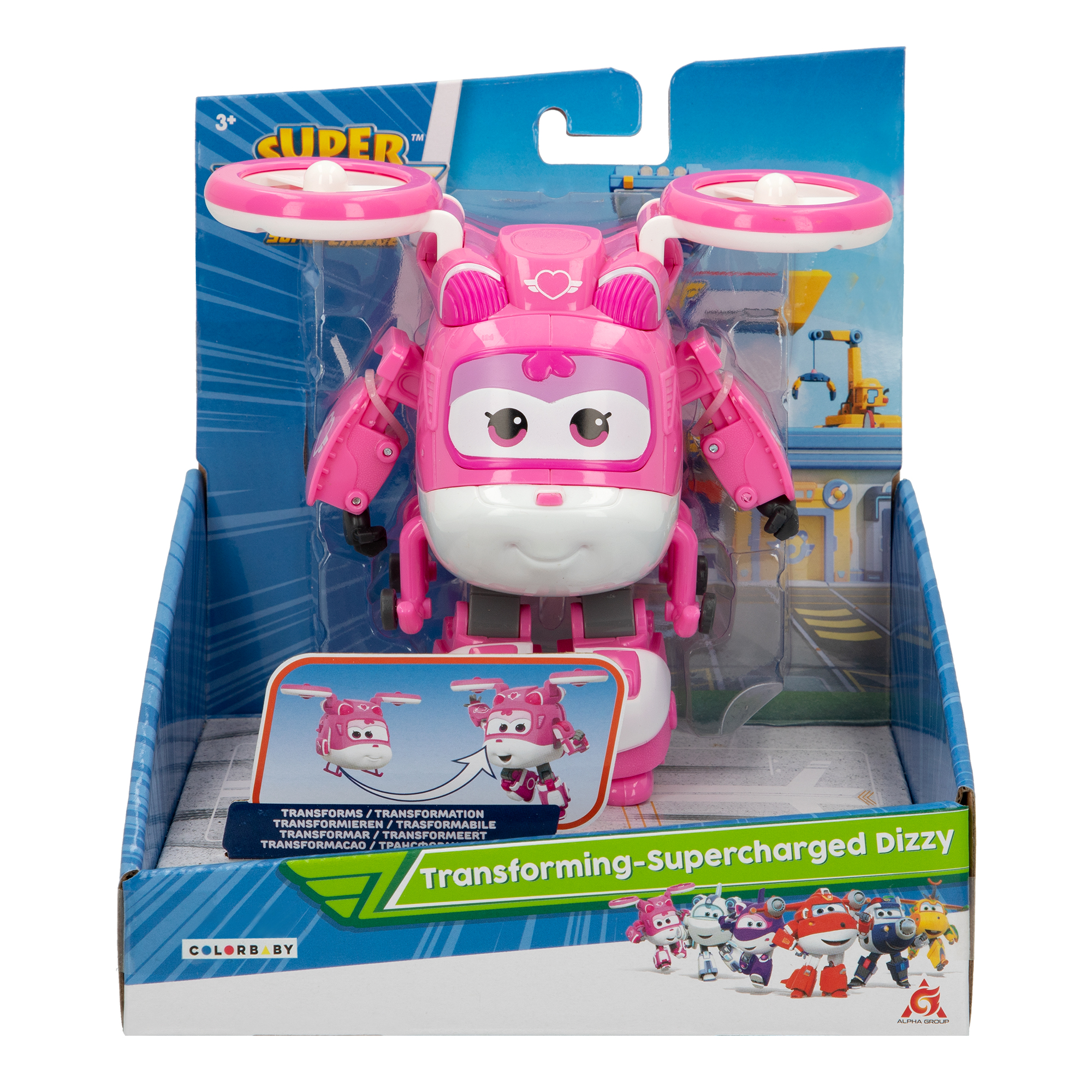 Juguete Super Wings Dizzy transformable