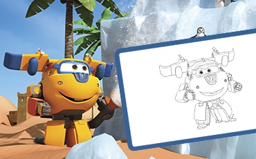 Manualidades Super Wings Donnie