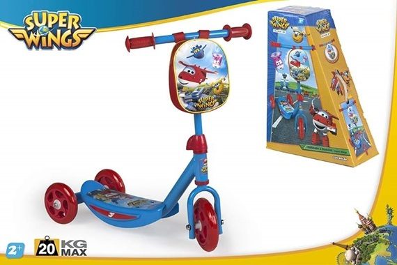 SCOOTER 3 RODAS  - SUPER WINGS