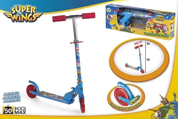 SCOOTER ALU 2 RODAS - SUPER WINGS