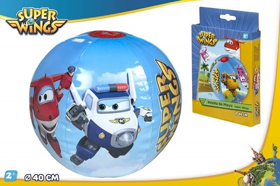 BOLA PRAIA D40 CM - SUPERWINGS