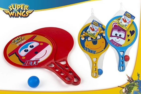 SET DE RAQUETES E BOLA PVC - SU Super Wings