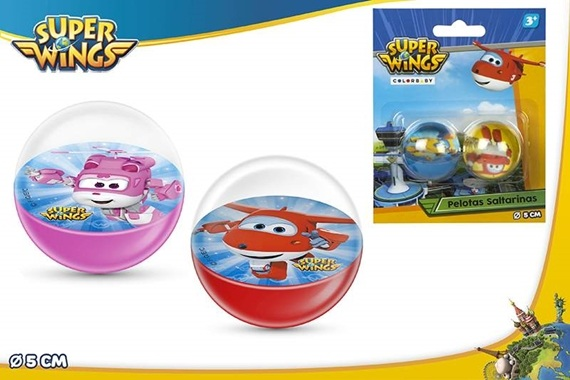 BL 2 BOLAS SALTITONAS D5CM - Super Wings Super Wings