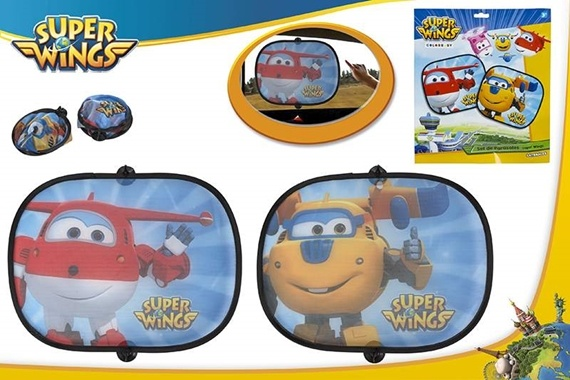 SET 2 PARASÓIS LATERAIS CARRO Super Wings