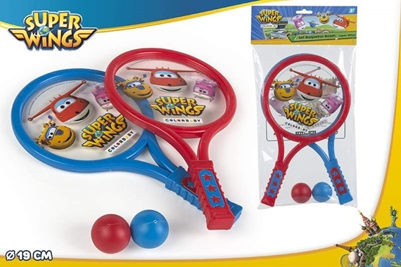 SET TENIS BOOM 19CM - SUPER WINGS