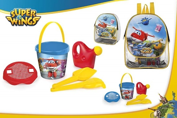 MOCHILA SET CUBO D18CM C/3 ACC Super Wings