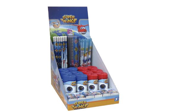 Expositor Papelería 84 piezas SuperWings Super Wings