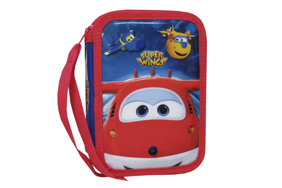 Plumier 2 Pisos con Material Escolar SuperWings Super Wings