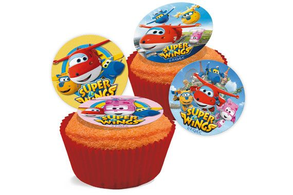 Mini Discos Comestíveis Super Wings Super Wings
