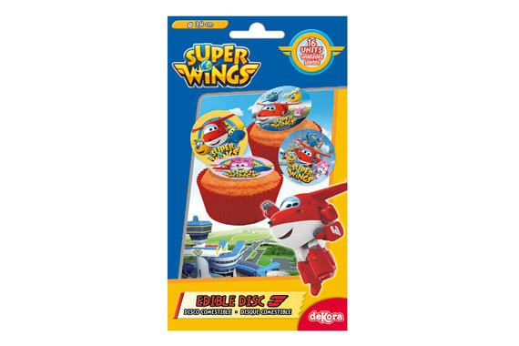 Mini Discos Comestíveis Super Wings