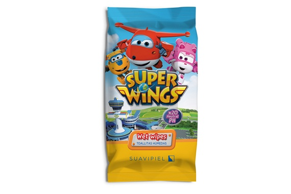 Super Wings toalhitas infantis x20