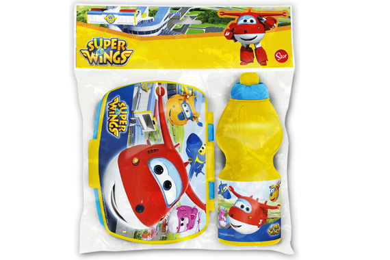 Set Vuelta Al Cole 2 Pcs. (Botella Sport Y Sandwichera) Super Wings Super Wings