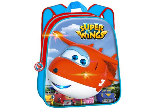 Mochila Jett con luz T352-324 Super Wings