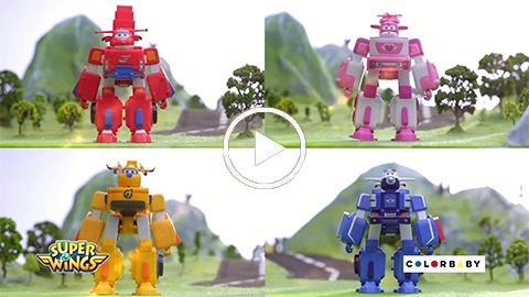 Super Wings Transform a bots
