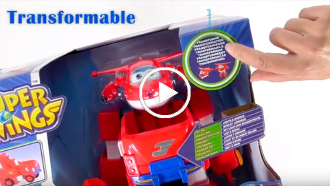 Unboxing Jett Super Wings y su Mega Vehículo transformable | COLORBABY