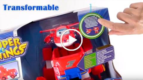 Unboxing Jett Super Wings y su Mega Vehículo transformable | COLORBABY